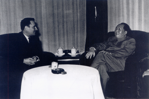 Chairman Mao met with Mr. Mitterrand